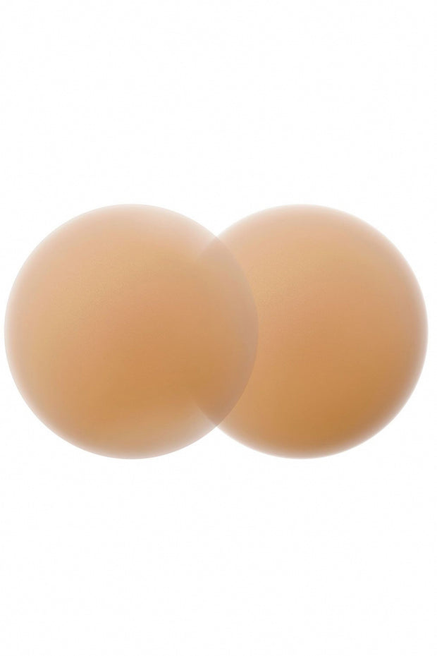 Nipple Covers-Size 2 Caramel against white background