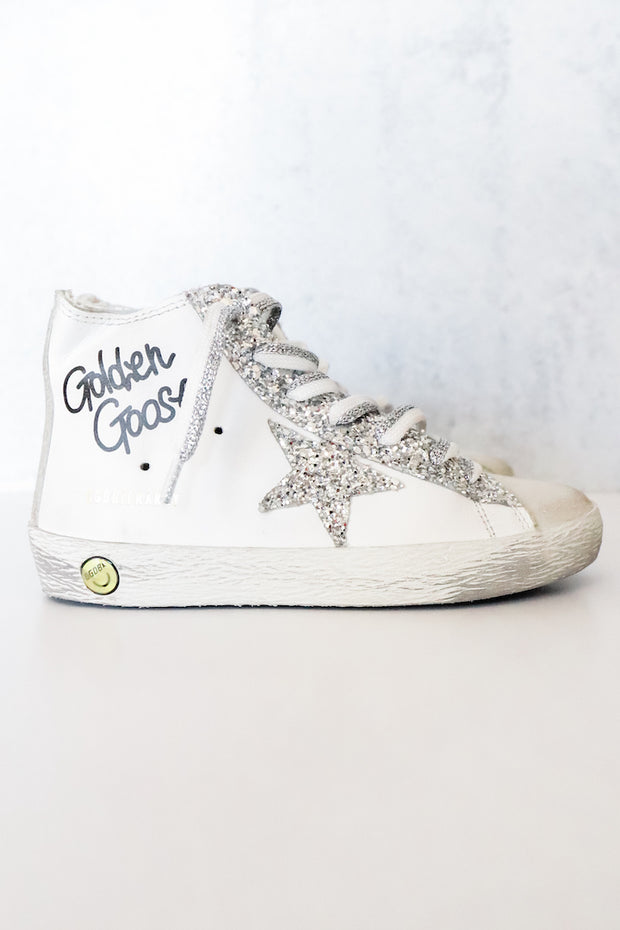 Image of the GOLDEN GOOSE Francy - Baby/Little Girls infront of white backdrop, side view