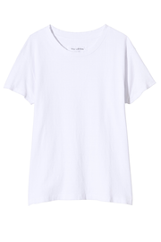 Nili Lotan Brady tee in white against a white backdrop