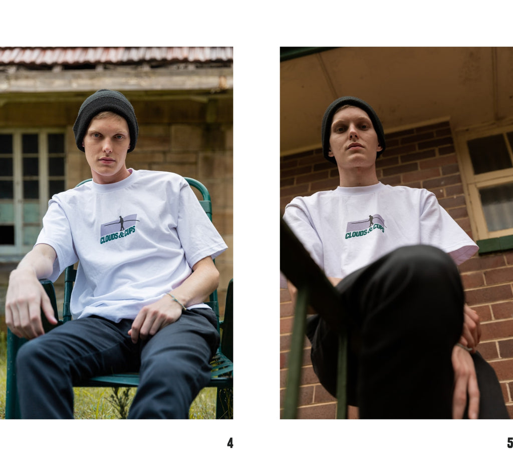 White Tightrope Tee Lookbook