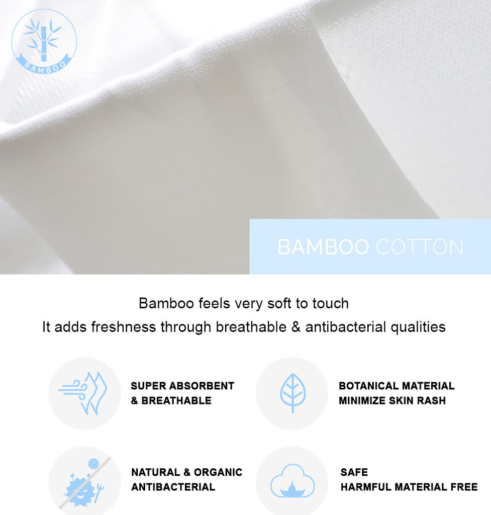 100% Bamboo Cloth Diaper Description