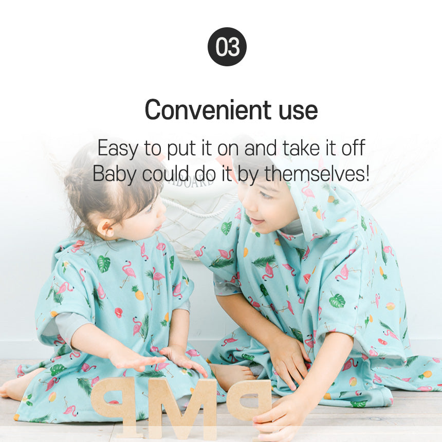 Easy to use baby bath wash gown poncho