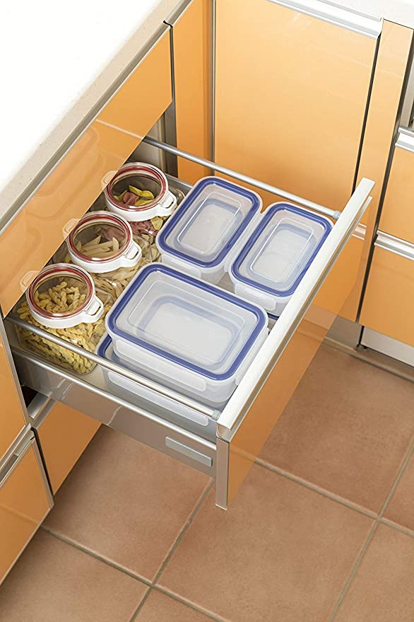 how to organize food storage container boxes