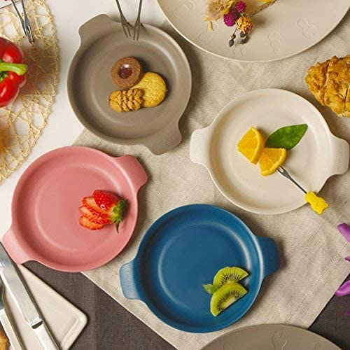 colorful round plates