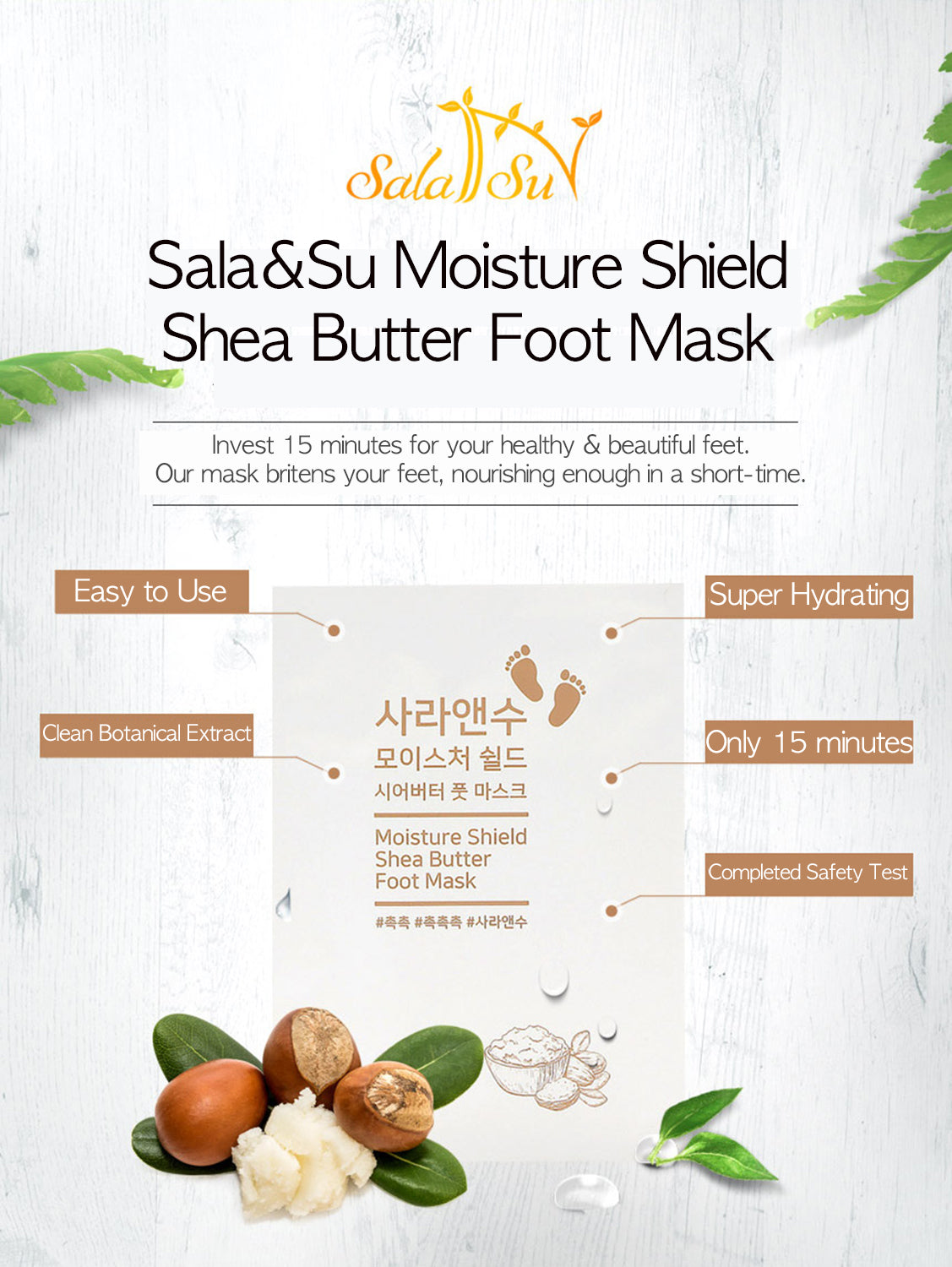 Sala&Su Foot Mask Product Description 2