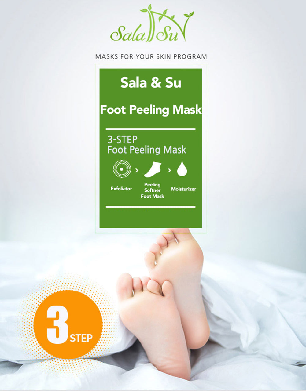 Sala&Su Foot Peeling Mask Product Description 1