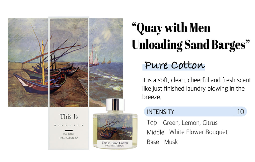 Quay with men Pure White Cotton Scent fragrance reed diffuser laundry smell