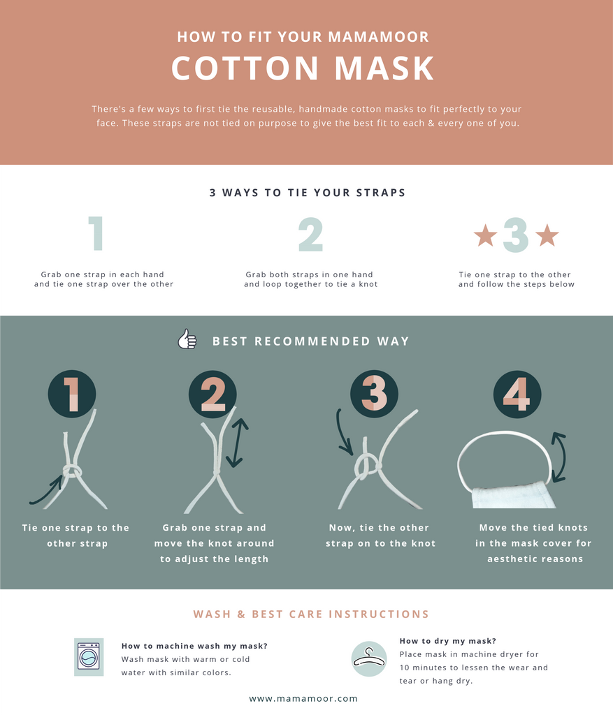 How to tie the knot for the face mask
