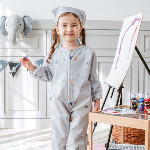 Kids Art Smock Overall Set