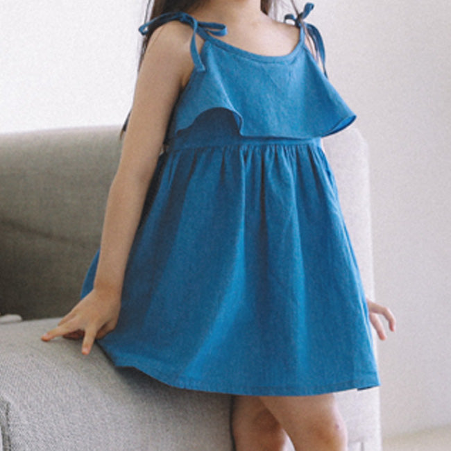 Aqua Denim Dress