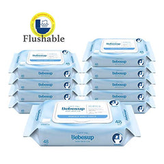 Flushable Wet Wipes (480 Count, 10 Pack)