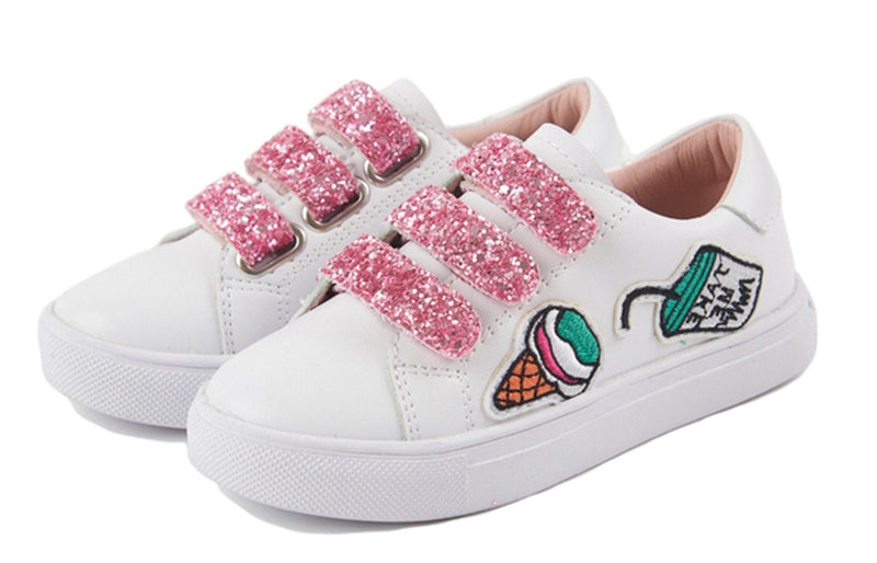 Sparkling Velcro Sneakers
