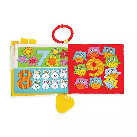 ABC Soft Cloth Book with Teether and Crinkle Pages