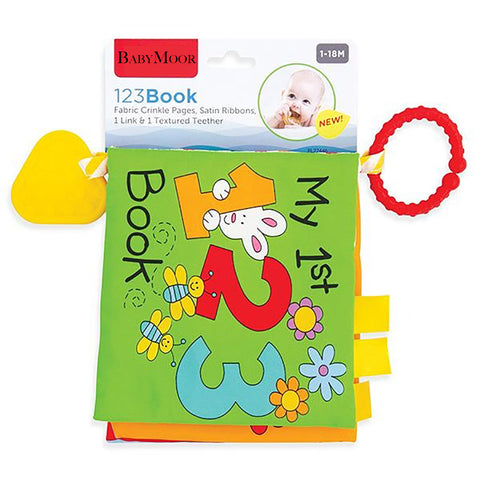 123 Soft Cloth Book with Teether and Crinkle Pages