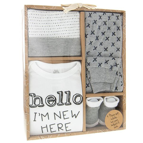 Hello I'm New Baby Clothing Set