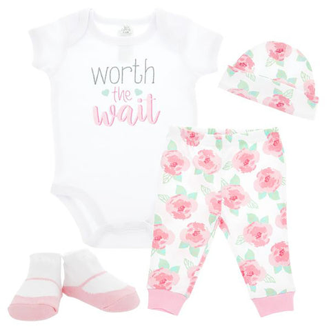 Worth the Wait Baby Clothing Set