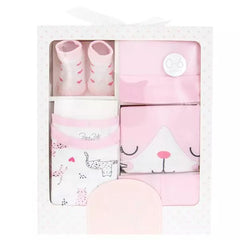 Pink Cat Baby Clothing Set