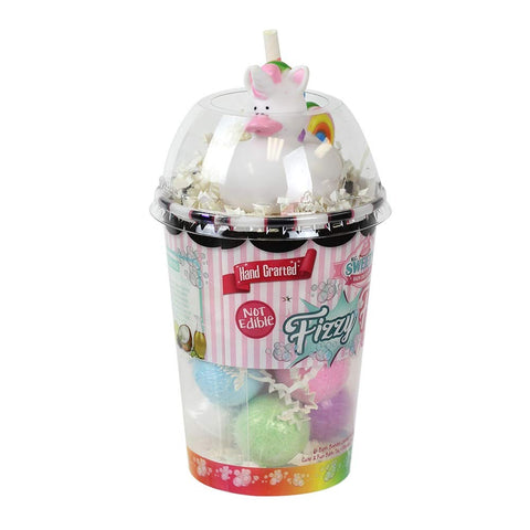 Fizzy Fun Shake with 6 Bath Bombs and Unicorn Bath Toy