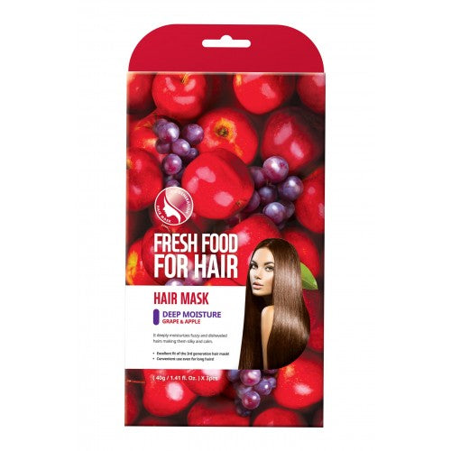 Fresh Food For Hair Mask - Deep Moisture, Grape & Apple (3 packs)