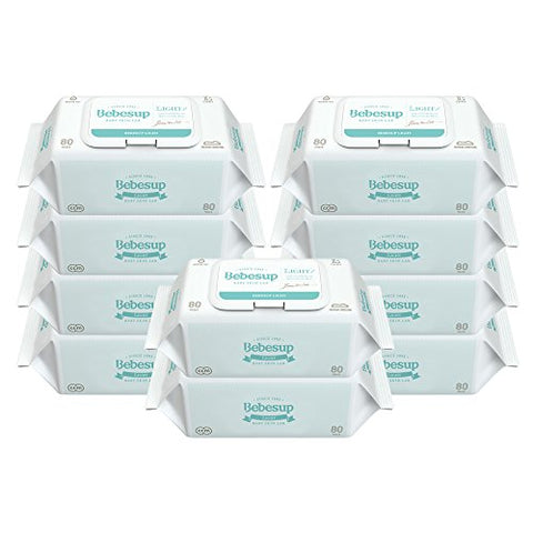 Light Cap Baby Wipes (800 Count, 10 Pack)