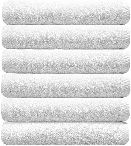 Light Muji Towel Set White (Set of 6)