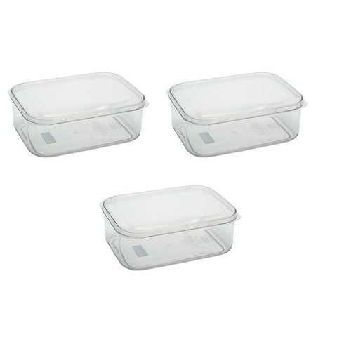 Micro Clear Food Storage Container 2.3QT Set (Set of 3)