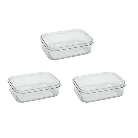 Micro Clear Food Storage Container 1.0QT Set (Set of 3)