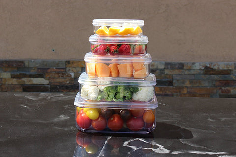 Micro Clear Food Storage Container Set (Set of 5)
