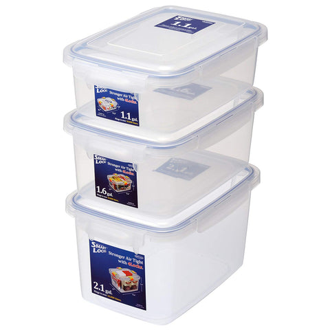 Jumbo Smart Locks Food Storage Container Set (Set of 3)
