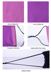Fashionable Cotton Face Mask (Purple)