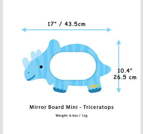 Triceratops Mirror Board Mini