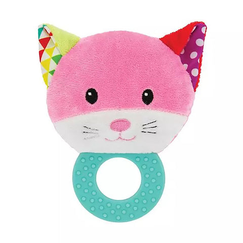 Cat Baby Rattle with Teether