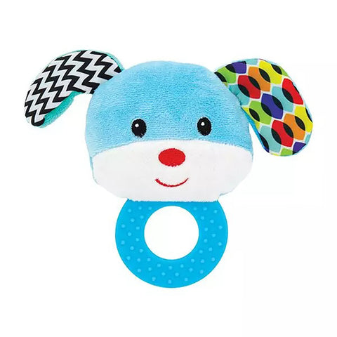 Dog Baby Rattle with Teether