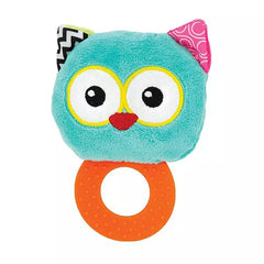 Owl Baby Rattle with Teether