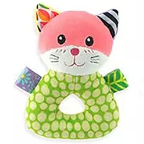 Cat Plush Animal Baby Rattle