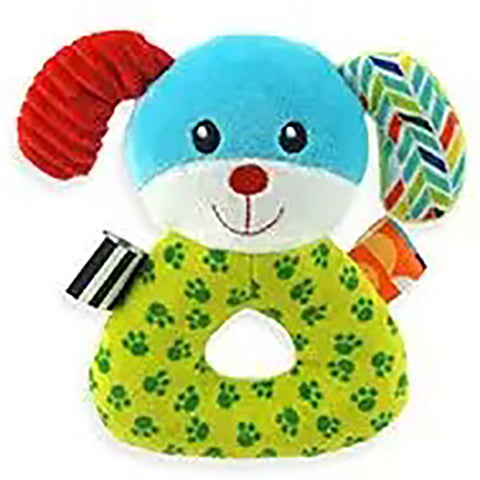Dog Plush Animal Baby Rattle
