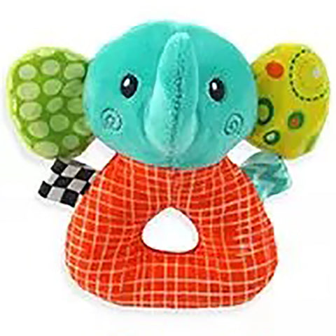 Elephant Plush Animal Baby Rattle