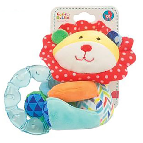 Lion Plush Rattle with Teether