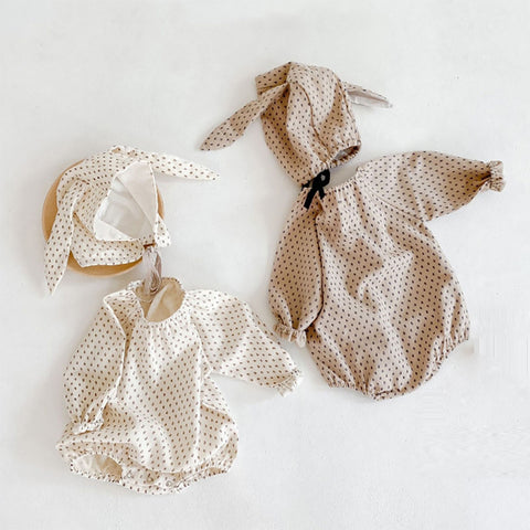 Dot Rabbit Romper Set