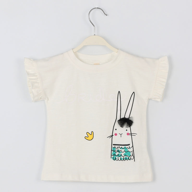 Rabbit Ruffle T-shirts