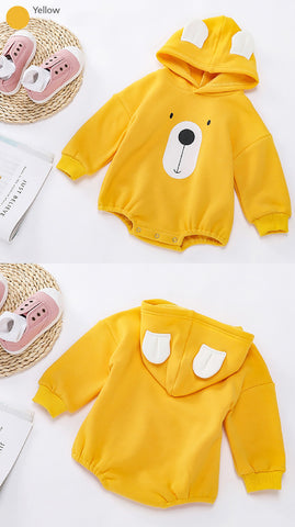 Walking Bear Hooded Romper