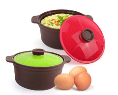 Silicone Egg Steamer 20.3 Fl Oz Set (Set of 2)