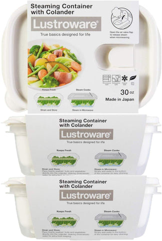 Smart Flap Venting Food Storage Container with Colander 3 Pack Set