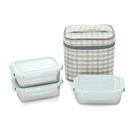Stainless Steel Bento Box 11.5oz Set (Set of 4)