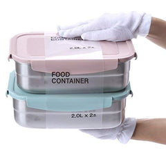 Stainless Steel Container 68oz Set (Set of 2)