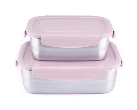 Stainless Steel Lunch Box 23.7oz & 44oz Set (Set of 2)