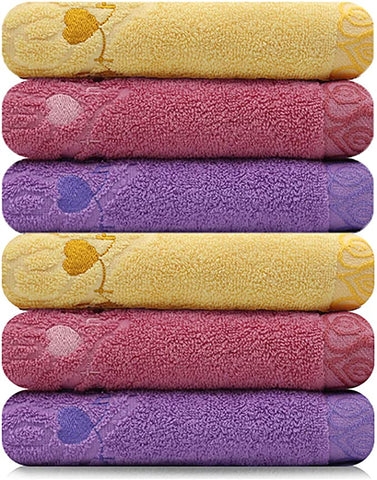 Sweet Heart Pitch Towel Set (Set of 6)