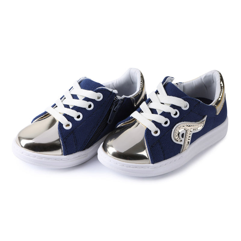 Zipper Canvas Sneakers