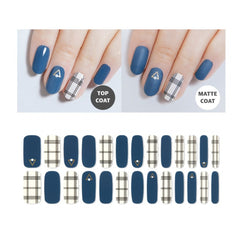 Premium Gel Nail Sticker - Check Line (6 Design)