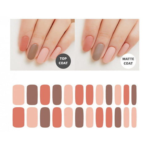 Premium Gel Nail Sticker - Color Line (Palette) (7 Design)